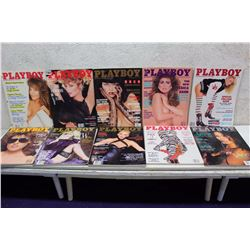 Lot of Playboy Magazines (10)(1987-88)