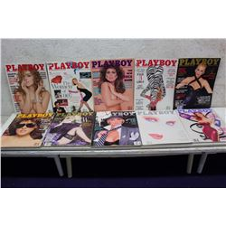 Lot of Playboy Magazines (10)(Various Dates 1987-90)