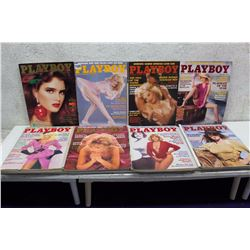 Lot of Playboy Magazines (10)(Various Dates 1984-86)