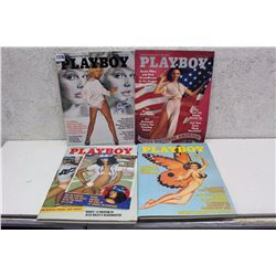 Lot of Playboy Magazines (4)(1976)