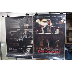 Lot of Movie Posters (2)(The Bourne Legacy & The Iceman)