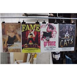 Lot Of Theater Posters (4) (Fame, The Graduate, Cats, Grease)
