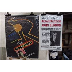 Beatles Posters (Give My Regars To Broad Street, John Lennon )