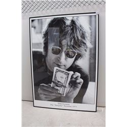 "John Lennon, Imagine Sessions 1971, Custom Framed Poster (25 ½"" x 35 ½"")"