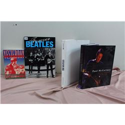 Lot Of Beatles Books (4) (Yesterday, Forever Beatles, Paul McCartney, The Beatles)