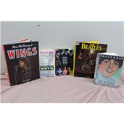 Lot Of Beatles Books (5) (Wings, Tell Me Why, Yesterday, Etc)
