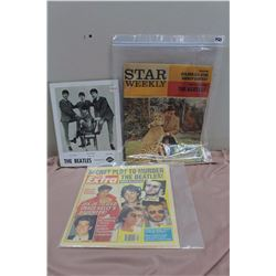 Lot Of Beatles Memorabilia (Extra, Star Weekly, Dairy Queen Reprint)