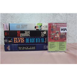 Lot of Elvis VHS's (4)(One Night With You, etc;) & Cassette Tape (Blue Christmas)