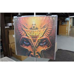 "Triumph ""Never Surrender"" Promotional LP Album Cover Poster"