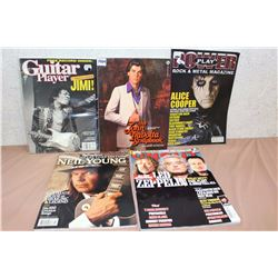Lot Of Music Magazines (Jimi, John Travolta, Alice Cooper, Led Zebblin, Neil Young)