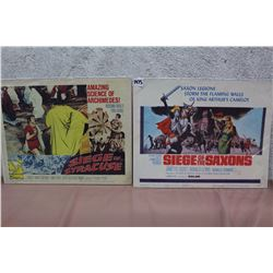 Movie Original Lobby Cards (2) (Siege Of Syracuse, Siege Of The Saxons)