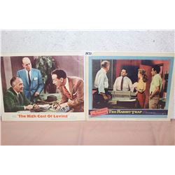 Movie Original Lobby Cards (2) (The High Cost Of Loving, The Rabbit Trap)