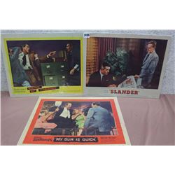 Movie Original Lobby Cards (3) (Crime Of Passion, Slander, My Gun Is Quick)