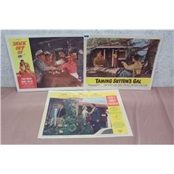 Movie Original Lobby Cards (3) (Shack Out On 101, Tamking Sutton's Gal, There's Always Tomorrow)