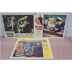 Movie Original Lobby Cards (3) (Trouble In The Glen, Return From The Sea, The Rawhide Years)