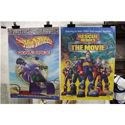 Lot Of Kids Movie Posters (2) (Hot Wheels, Rescue Heroes)