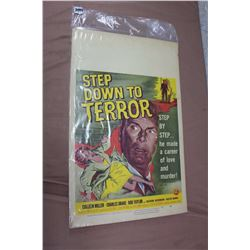 Step Down To Terror, Vintage Movie Poster