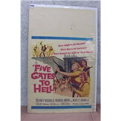 Five Gates To Hell, Vintage Movie Poster