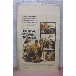 Island Of Lost Women, Vintage Movie Poster