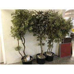 Lot of Faux Potted Trees (3)