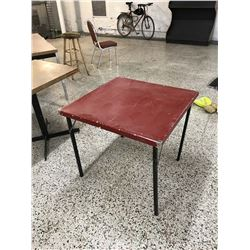 Red Folding Card Table
