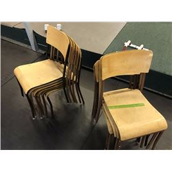 Lot of Stack-able Metal Framed Chairs (11)