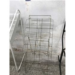 Retail LP Record Wire Display Stand