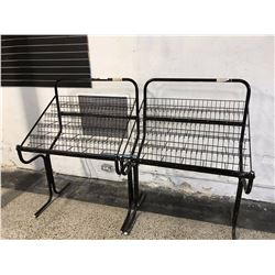 Pair of Large Retail Metal CD Display Stands