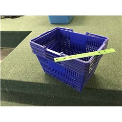 Lot of Plastic Baskets With Plastic Counter Top Display