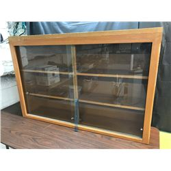 Display Cabinet with Shelves, Glass Doors