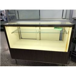 Large Lit Display With Glass Shelf. Working