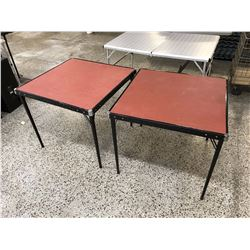 Pair of Red Folding Card Tables