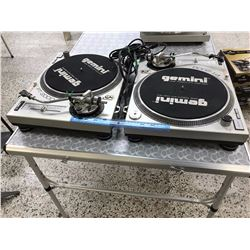 Pair of Gemini PT-2000  DJ Turn Turntables