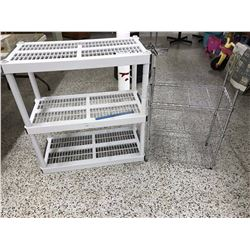 Pair of Small Shelves (2)(One Metal, One Plastic)