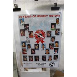 """20 Years of Hockey History"" Saskatoon Blades Poster"