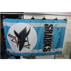San Jose Sharks Hockey Flag