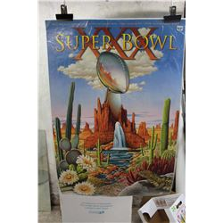XXX Superbowl 30th Superbowl Promotional Poster