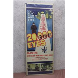 "Vintage Movie Poster (20,000 Eyes) (14""x36"")"