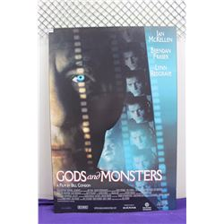 "Gods And Monsters Original Movie Poster Printed On Wood(27""x40"")"