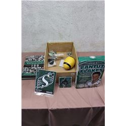 Lot Of Roughriders Memorabilia (Sticker, Fantuz Flakes, Etc)