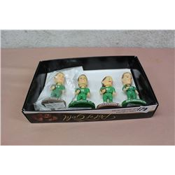 Lot Of Roughriders Bobbleheads (Aldag, Fairholm, Elgaard, Lancaster)