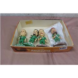 Lot Of Roughriders Bobbleheads (Makowsky, O'Day, Poley, Jurasin)