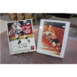 Pair Of Signed Hockey Prints, Reprint