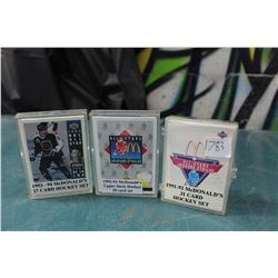 Sets Of 90's McDonalds Hockey Cards (3)