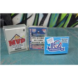 Sets Of Baseball Cards (3) (McDonalds, Score, Toronto Blue Jays, 10th Anniversary)
