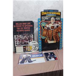 NHL Cardboard Advertising Pieces (4)