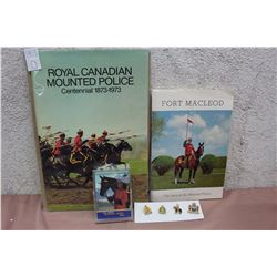 Lot Of Royal Canadian Mounted Police Pieces (Pins, Cards, Booklets)