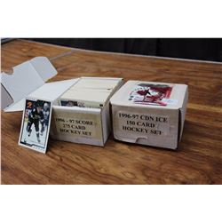 Pair Of Hockey Card Sets (1996–97 Score Set, 1996–97 Canadian Ice 150 Card Set]