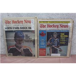 Pair of The Hockey News Papers (Wayne Gretzky related)