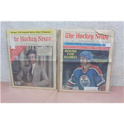 Pair of The Hockey News Papers (Mark Messier, Bobby Orr)